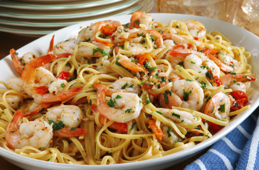 Healthy Recipe: Shrimp Scampi Over Pasta