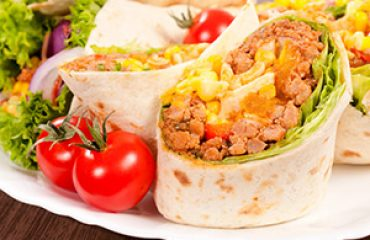Healthy Recipe: Baked Eggs and Chicken with Spinach Breakfast Burritos