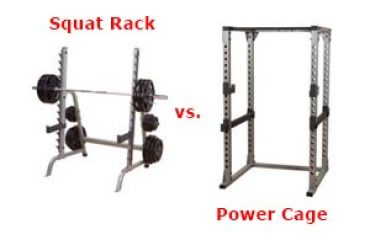 What's The Difference Between a Squat Rack and a Power Cage?