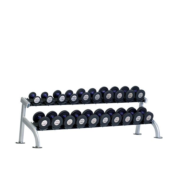 TuffStuff PPF-752 2-Tier Saddle Dumbbell Rack at Commercial Fitness Superstore of Arizona.