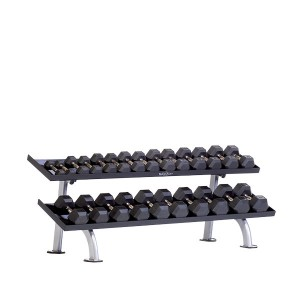 TuffStuff PPF-752T 2-Tier Tray Dumbbell Rack at Commercial Fitness Superstore of Arizona.
