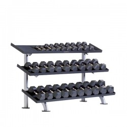 TuffStuff PPF-754T 3-Tier Tray Dumbbell Rack at Commercial Fitness Superstore of Arizona.