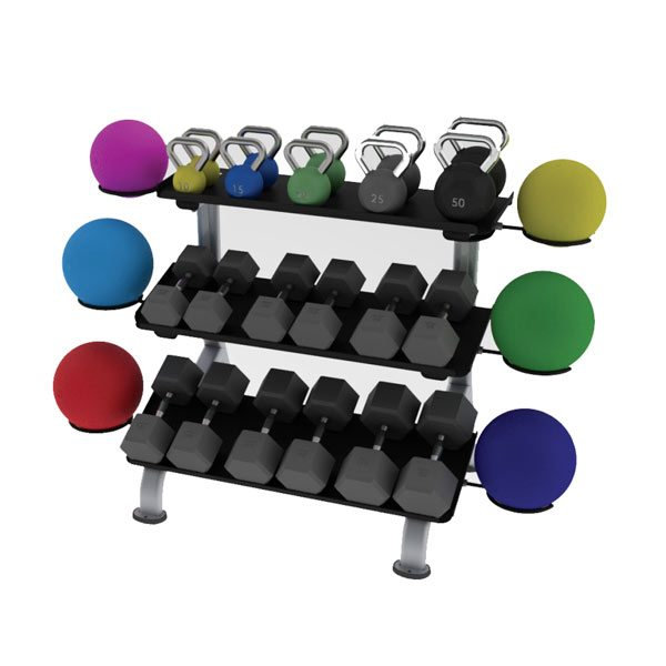 Paramount FS24 3-Tier Flat Tray Dumbbell Rack