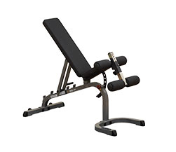 Body Solid GFID31 Flat / Incline / Decline Bench w/ Leg Hold Down