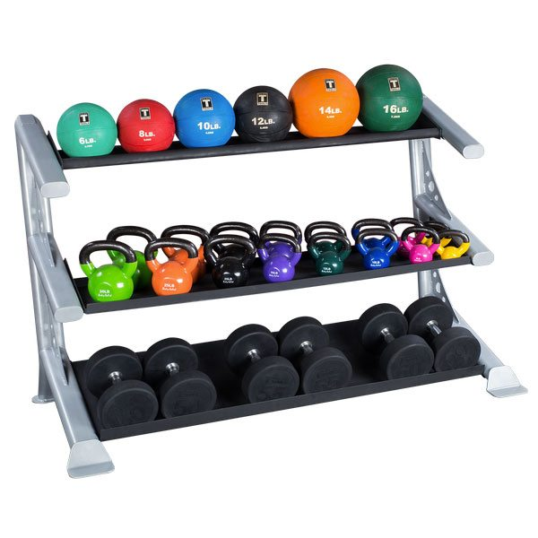 Body Solid SDKR1000P2 3 Tier Combination Storage Rack