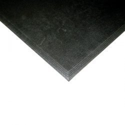 Humane 3' x 4' Beveled Mat Black 3/8""