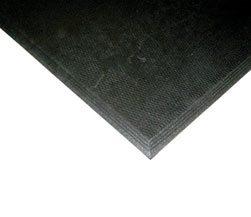 Humane 3' x 4' Beveled Mat Black 3/8