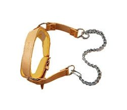 Apollo Leather Head Belt with chain