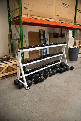 55-100 lb. Dumbbell Set with Rack