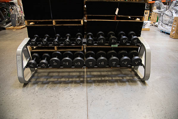 U-Max 5-50 Lb. Dumbbell Set with IcarianRack