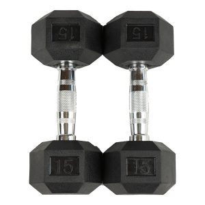 Fitness Products Direct Rubber Hex Dumbbells