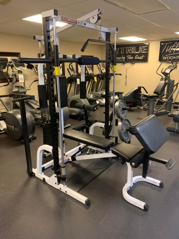 Body Solid Smith Ensemble w/Bench, Oly Weights & Rack